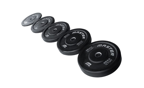 Bumper Plate - Levypainot 5-25 kg - Master Fitness